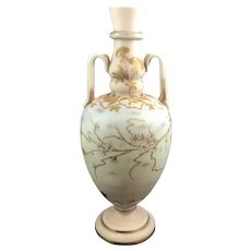 Harrach Neuwelt Bohemian Art Glass Enameled Vase, ca. 1885