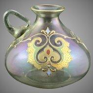 "Josephinenhuette ""Cypern"" Series Iridescent Art Nouveau Glass Vase, designed by Max Rade, ca. 1899-1900"