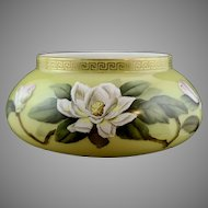 Bohemian Art Nouveau Enameled Glass Bowl, ca. 1890
