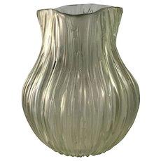 Loetz Gelb Texas Iridescent Uranium Glass Vase, st PN II-1585, ca. 1904
