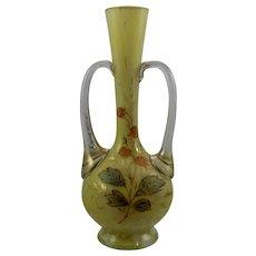 "Bohemian Art Glass Souvenir Vase ""A Present from Weymouth"", ca. 1900"