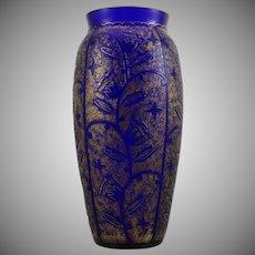Acid etched vase, Johann Oertel & Co., Glass Refinery Haida, ca. 1920-1925