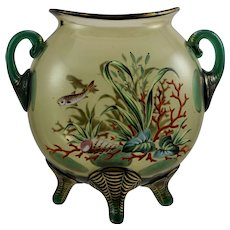 Harrach Enameled Art Glass Vase, made for Moser, ca. 1890