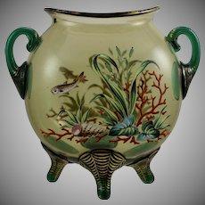 Harrach Enameled Art Glass Vase, made for Moser, ca. 1890