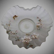 Riedel, Polaun, Enameled Art Nouveau Jugendstil Glass Plate/Shallow bowl, ca. 1900