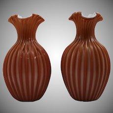 Pair of Bohemian Art Glass Vases, ca. 1890