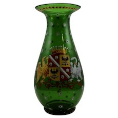 "Harrach Bohemian Glass vase in the ""Alt Deutsch"" style, ca. 1860"