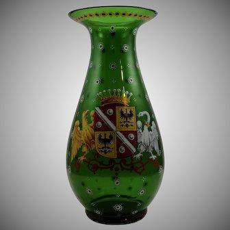 "Harrach Bohemian Glass vase in the ""Alt Deutsch"" style, ca. 1860"