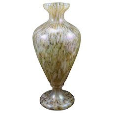 Bohemian Art Glass Vase, iridescent, ca. 1890