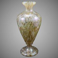 Bohemian Art Glass Vase, iridescent, ca. 1890