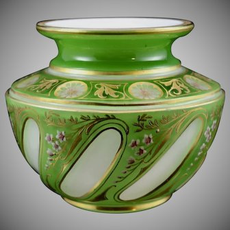 Josephinenhütte Cut-to-Clear art glass vase designed by Alexander Pfohl, ca. 1927