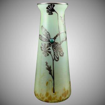 Poschinger, Buchenau, Art Nouveau Jugendstil Glass Vase, Harvey Littleton estate piece, ca. 1900