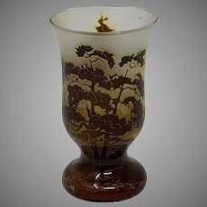 Carl Goldberg, Haida ACB Bohemian Art Nouveau Glass vase miniature, ca. 1900