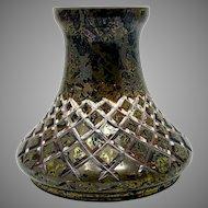 Carl Goldberg, Haida Iridescent Cut to Clear Bohemian Art Nouveau Glass vase, ca. 1900