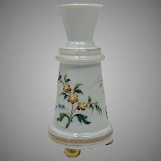 Harrach Victorian Enameled Glass Vase, ca. 1890