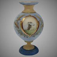 Victorian Era Bohemian Painted Glass Vase, ca. 1880