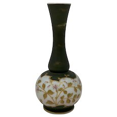 LARGE Harrach Enameled Bohemian Art Glass Vase, ca. 1885