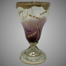 Harrach Art Nouveau Enameled Glass, ca. 1900