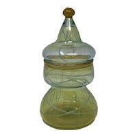 Nick Del Matto Studio Art Glass Covered Jar, ca. 1977
