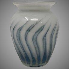 Schott Cristal European Art Glass Vase, Contemporary