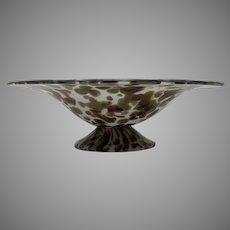 HUGE Loetz late period Art Deco Opal Glass Bowl, ca. 1927