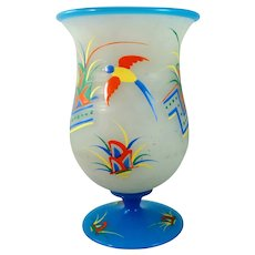 Haida or Steinschonau Art Glass Vase, Czechoslovakia, ca. 1930s