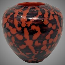 """Loetz """"Diaspora New"""" Art Deco Period Glass Vase, ca. 1930s, Original Paper Label"""
