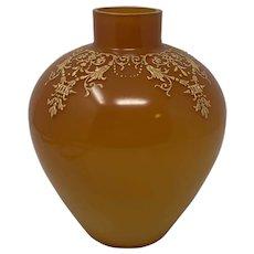 Early Loetz Austria Enameled Art Glass Vase, ca. 1890s