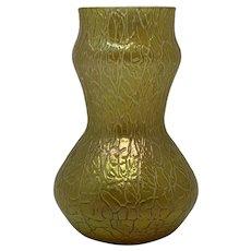 "Loetz ""Candia Mimosa"" Iridescent Bohemian Art Nouveau Glass Vase, ca. 1908"