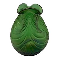 "Loetz ""Creta mit Festons"" Art Nouveau Glass Vase, ca. 1901"