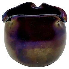 Loetz Rubin Matt Iris Art Nouveau Glass Vase, PN II-658, ca. 1900