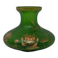 Carl Goldberg, Haida ACB  Enameled Bohemian Art Nouveau Glass vase, ca. 1900