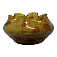 Rare Loetz Helios (Red) Jugendstil Art Nouveau Glass Vase, ca. 1904