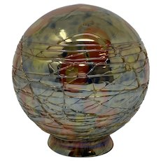 Bohemian Czechoslovakia Art Deco Glass Ball Lamp Shade, ca. 1930