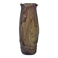 Kralik Bohemian Art Nouveau Glass Vase, ca. 1900