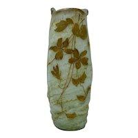 Kralik Art Nouveau Glass Vase, Arnold Rub decoration, ca. 1900