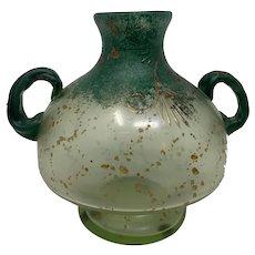 Bohemian Art Nouveau Glass Vase, ca. 1900