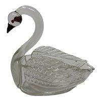 Loetz Art Glass Figural Swan, ca. 1920