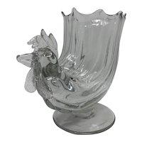 Loetz Figural Art Nouveau Glass Rooster, ca 1920