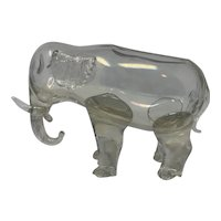 Loetz Crystal Glatt Figural Elephant (for restoration) - AS IS