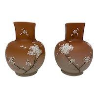 Loetz Enameled Glass Vases (Mirrored Pair), ca. 1890s