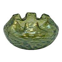 Loetz Diaspora with Diana Cisele Art Nouveau Glass Rose bowl, ca. 1902
