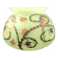 Josephine Glass Works Uranium Glass vase, Sigfried Haertel decoration, ca. 1921
