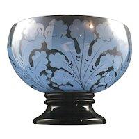 Jean Beck pedestal bowl painted by Franz Scholze, ca. 1918