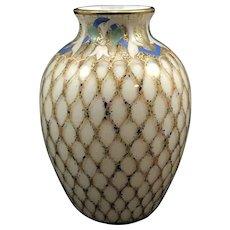 Harrach Enameled Air Trap vase, ca. 1890