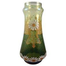 Harrach Art Nouveau Enameled Vase, ca. 1900