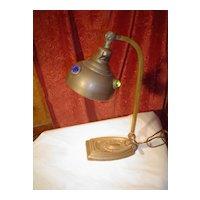 Brass Jewelled Desk Lamp