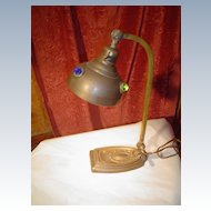 Brass Jewelled Desk Lamp