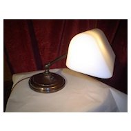Signed Rare Color Emeralite Desk Lamp