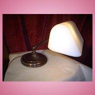 Signed Rare Color Emeralite Desk Lamp